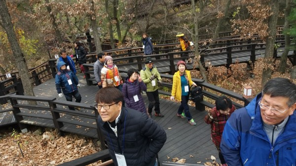 숲해설 소백산자락길에서 숲체험 활동과 트레킹